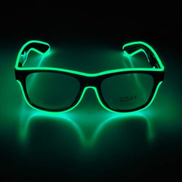 Light-up Illuminated Neon Electroluminescent EL Wire LED Glasses Light Shutter Frame Costumes Eyeglasses
