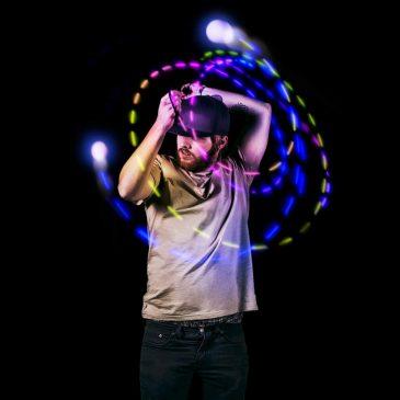 Flow Rave Poi Balls – Spinning LED Light Toy (Set of 2