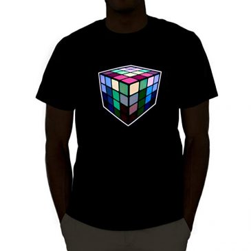 Rubik's Cube Sound Activated Light Up Shirt