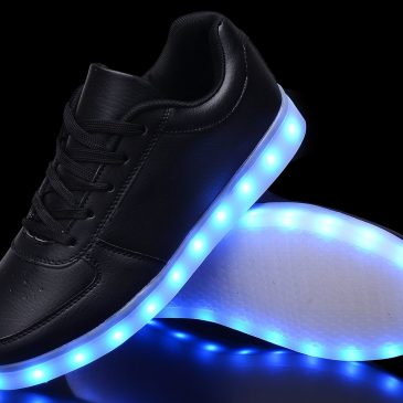 Odema Women USB Charging LED Shoes Flashing Sneakers