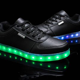 Men's Pinkmartini 7 Colors Light Up High Top Sports Sneakers
