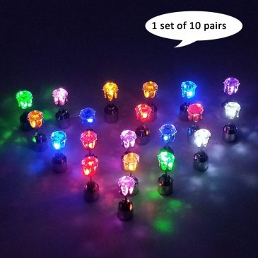 LED Earrings Pack of 10 LED Multicolor Bright Stylish Fashio