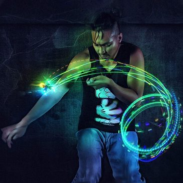 Orbite-X Version 3.0 4-Light Orbit Spinning Light Toy (Clear