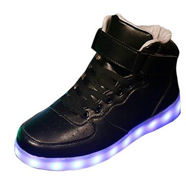 New Women LED Light Luminous Sneaker High Top Lovers Athletic Shoes USB Cha