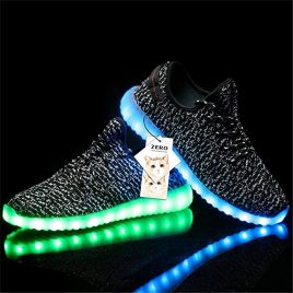 Unisex 7 Colors Luminous Light Up Shoes Women's Lace Up Trainers Sportswear Casual Sneakers