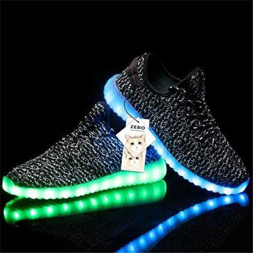 Unisex 7 Colors Luminous Light Up Shoes Women's Lace U