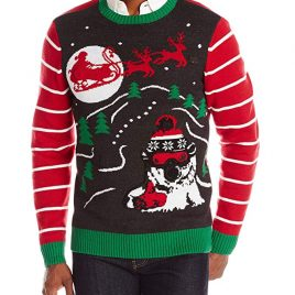 The Ugly Christmas Sweater Kit Men's Radical Polar Bro Light-Up Sweater