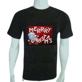 Funny Light up LED Christmas T-shirt Merry Christmas Size XL