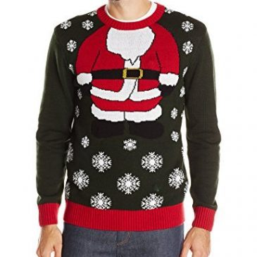 Ugly Christmas Sweater Men's Santa Light-Up