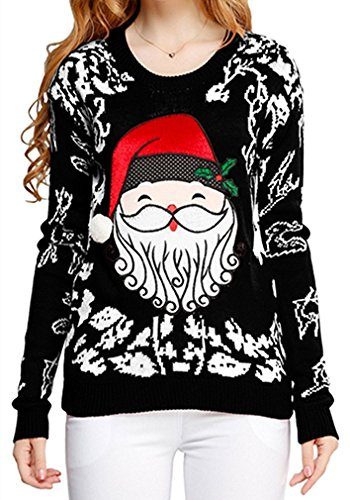 Ugly Christmas sweater, V28 Women Knit Sweater