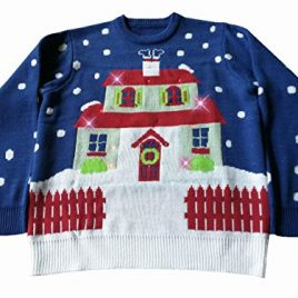 Light Up, House With Too Many Lights Ugly Christmas Sweater