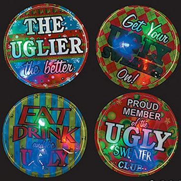 Ugly Christmas Sweater Accessory Must Have! Set of 4 Ugly Sw