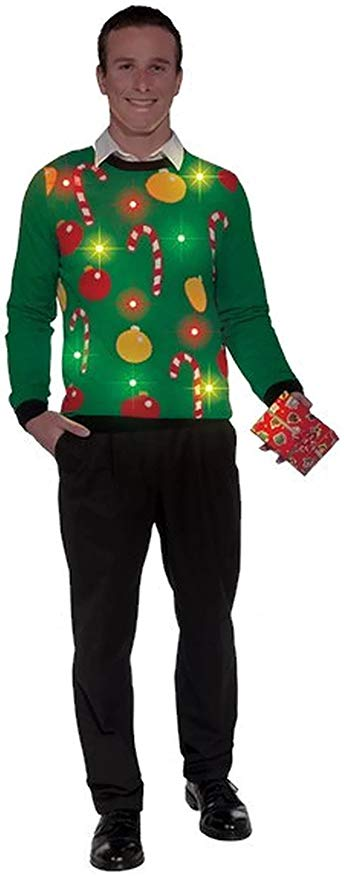 Adult Ugly Christmas Tis the Season Light Up Sweater –