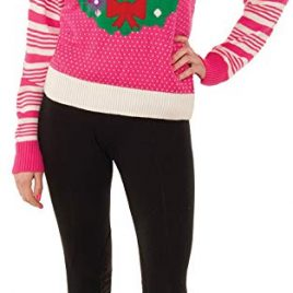 Pink Christmas Wreath Light Up Sweater