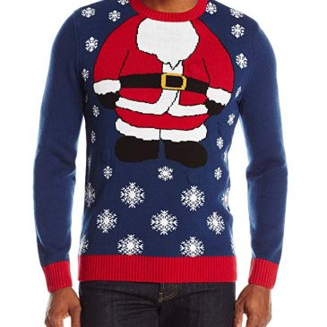 Ugly Christmas Sweater Men's Santa Light Up Ugly Chris