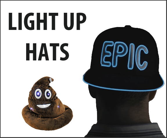 LIGHT UP HATS
