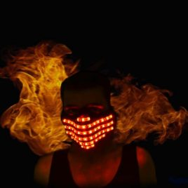light up rave mask