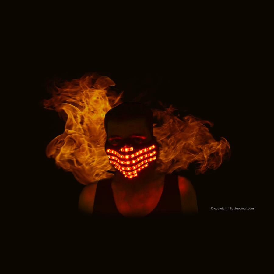 Light Up Rave Mask Edm Mask Lightupwear Com