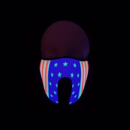 american flag light up mask