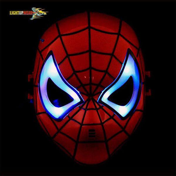 light up spiderman mask