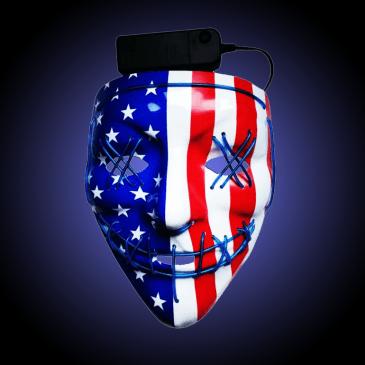 patriotic led mask