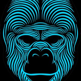 led gorilla mask