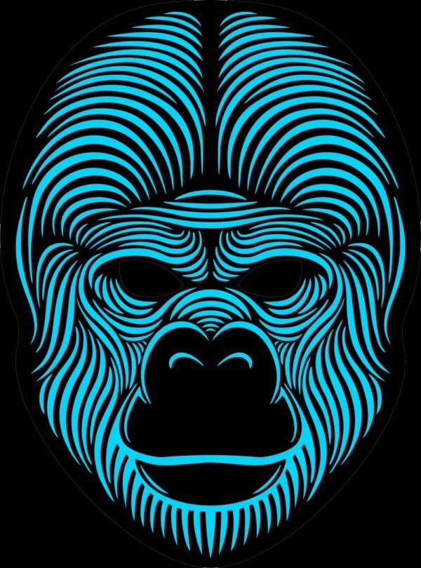 led gorilla mask