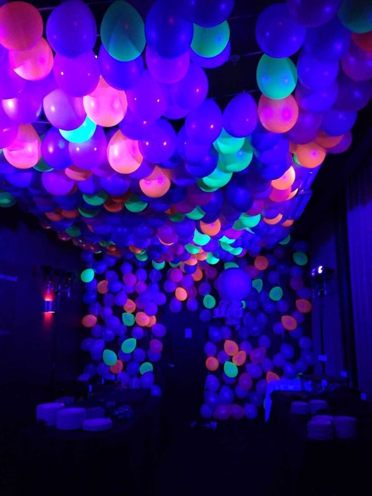 Glow In The Dark Party Decorations