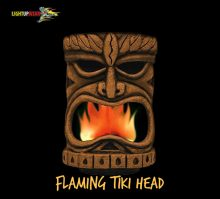 Flaming Tiki Head