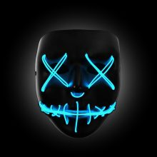 blue light up purge mask