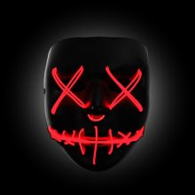 red light up purge mask