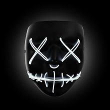 white light up purge mask