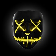 yellow light up purge mask