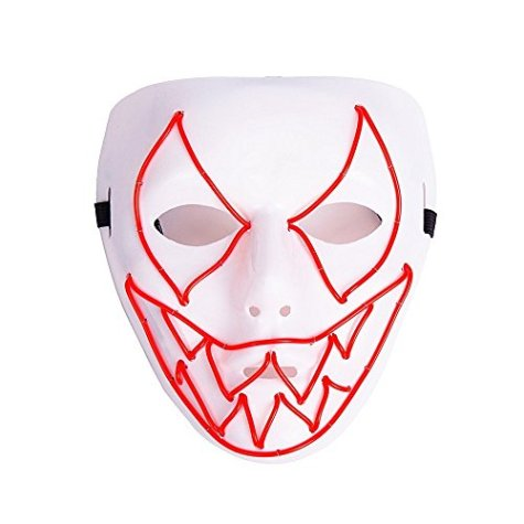 el wire scary light up mask 1