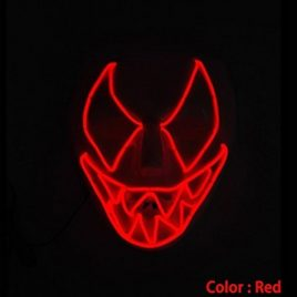 el wire scary light up mask