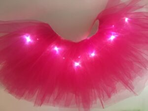 light up tutu rose red 2