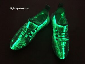 fiber optic led shoes green