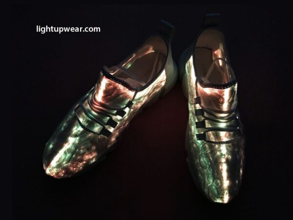 fiber optic led shoes beige