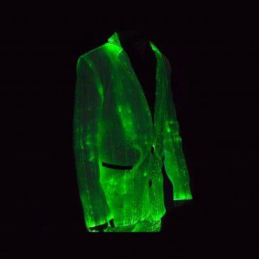 Light Up Jacket Made With Fiber Optic Fabric