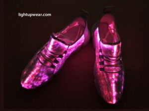 fiber optic led shoes pink