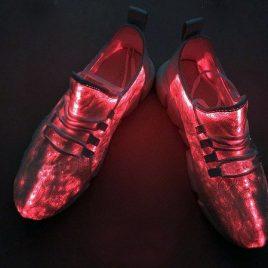 fiber optic led shoes red