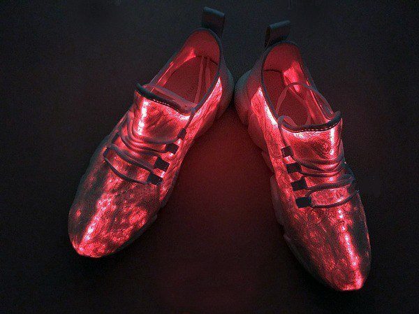 fiber optic led shoes red