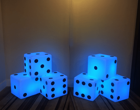 glow in the dark party themes casino