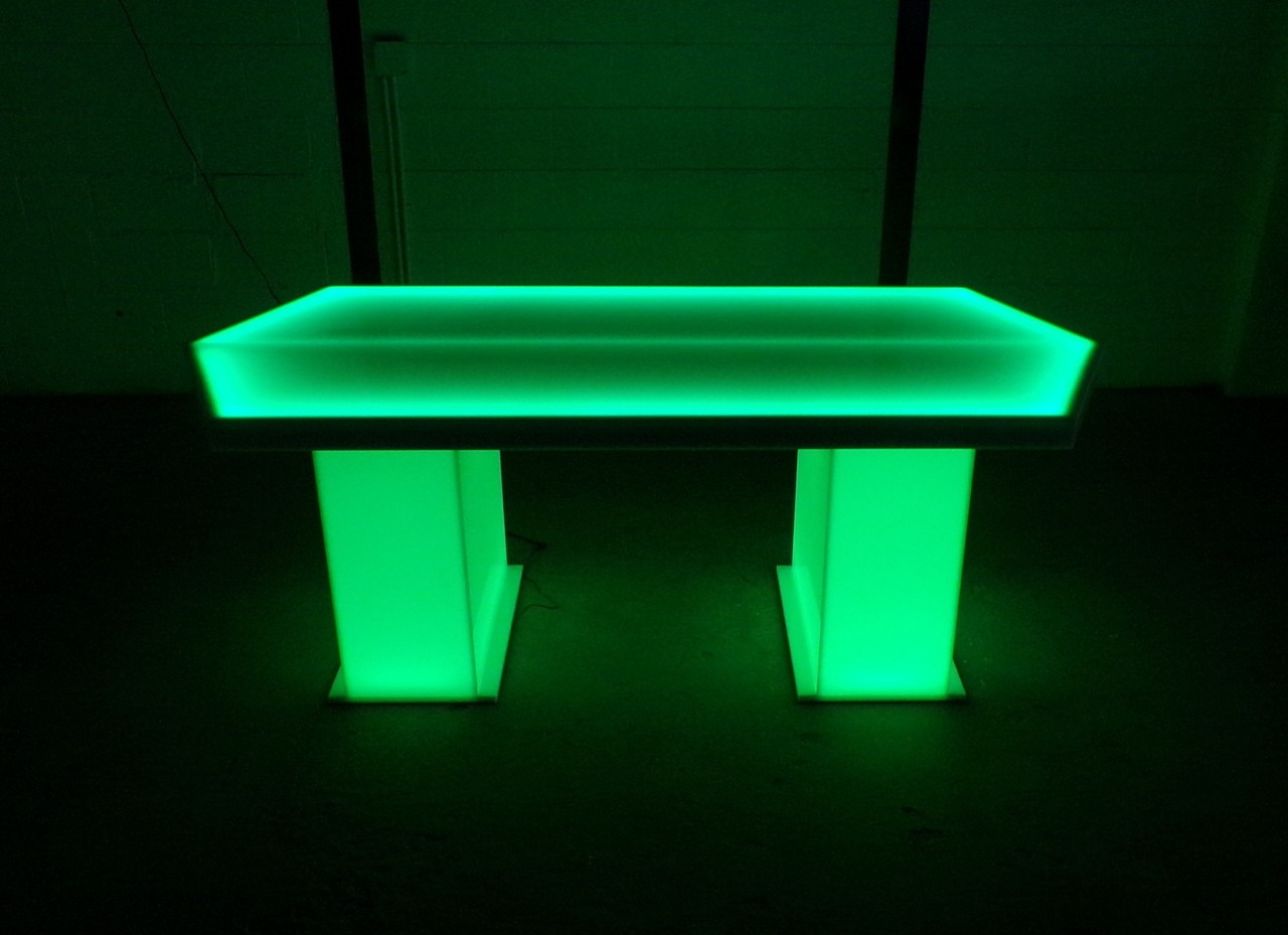 Green Glowing LED Table