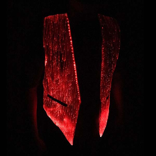 light up vest red